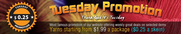 """Tuesday Promotion at Yarn Paradise some great yarns at low prices  <3 """"It"""""""