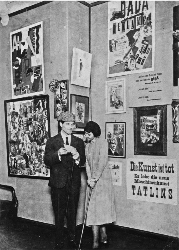 Raoul Hausmann and Hannah Höch at the First International Dada Fair, Berlin, June 30, 1920
