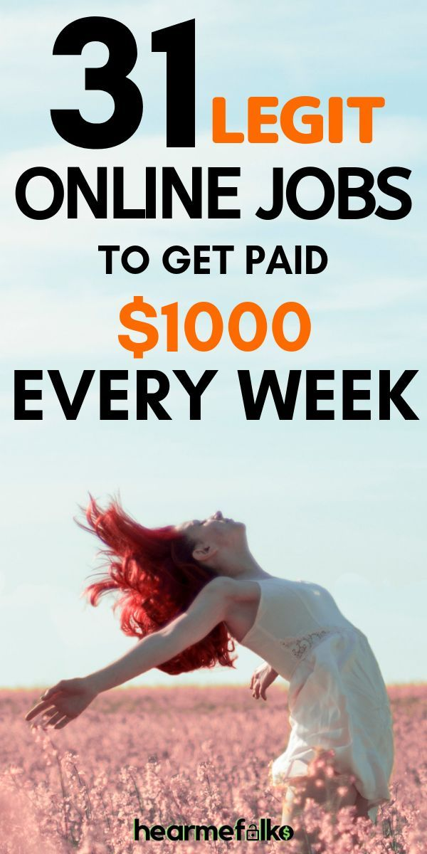 31 Easy to Do Legit Online Jobs That Pay Weekly [2019 Version]