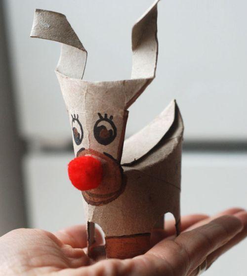 Espaço Infantil Artesanato de Natal com Rolo de Papel Higiênico - Espaço…