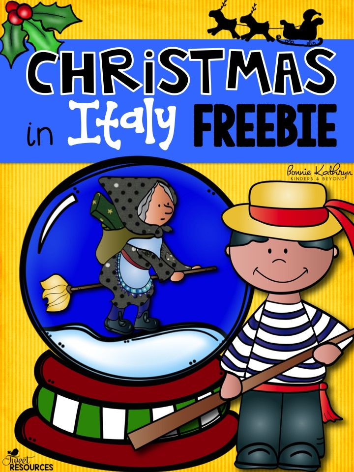 Christmas in Italy FREEBIE! Includes an interactive writing activity, craft idea, country information and more!