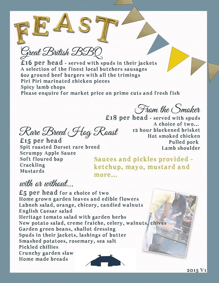 Feasting Menu | Tickled pig Events outdoor catering Dorset | Rare Breed Hog Roast, outdoor slow cooked Lamb | Unusual styles of wedding and event catering