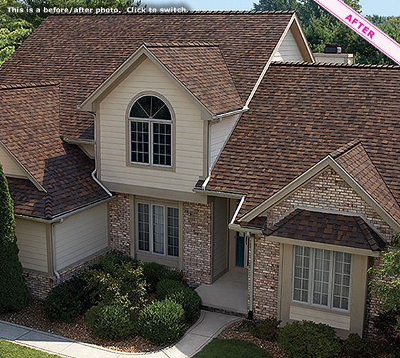 Owens Corning Roofing: Photo Gallery   TruDefinition® Duration® Designer  Colors Collection Sedona Canyon