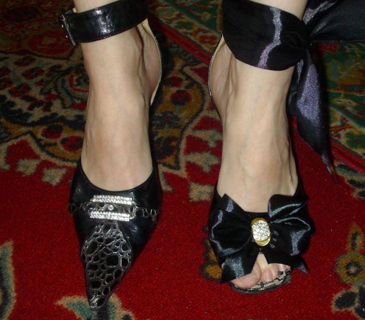 Остальное: превращение старых остроносых туфлей, в новые босоножки! (новая жизнь старой обуви,переделка туфлей,как отрезать острый нос на туфлях,) ФОТО #4