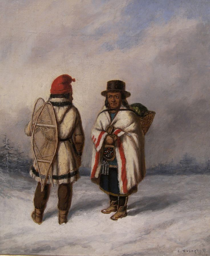 Cornelius Krieghoff, 'Hunter and Squaw' at Mayberry Fine Art