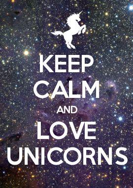 Keep Calm And Love Chummy The Unicorn