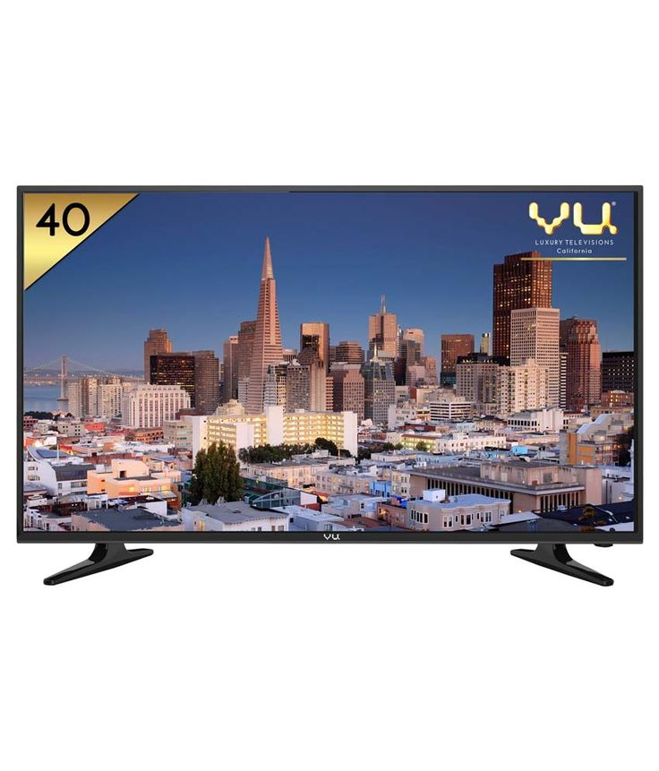 Vu 40D6575 102 cm (40) LED TV Dive into a whole new level of entertainment with this Vu 102 cm (40) Full HD television. The A+ Grade, Achromatic panels make images come to life so you can feel yourself becoming a part of the movie or TV show that you are watching.Enjoy stunning picture quality on this TV's 102 cm (40) Full HD screen. The energy-efficient LED backlighting ensures your images come alive on the big screen while reducing power consumption.