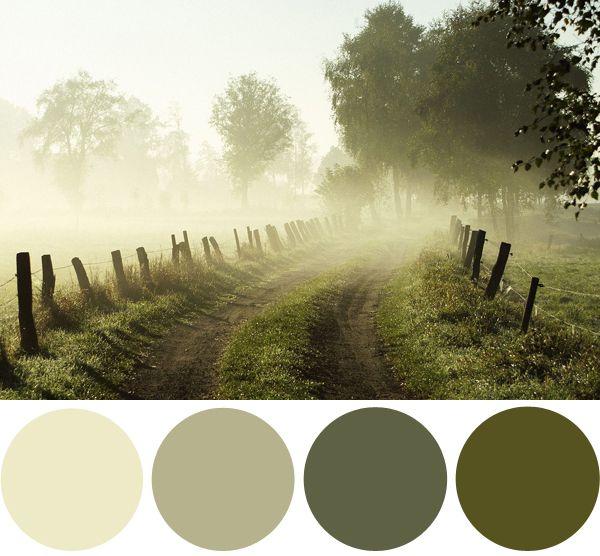 colour palette tonos verdes