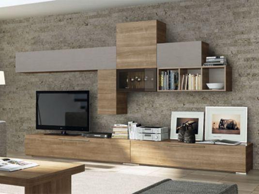 Fotografía de salón moderno de la colección AQCUA de la firma Lan-Mobel.