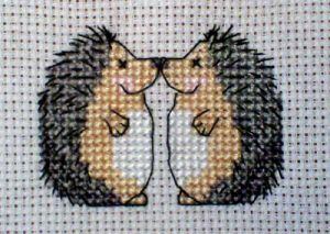 Hedgehog love cross stitch from Mad About Cross Stitch