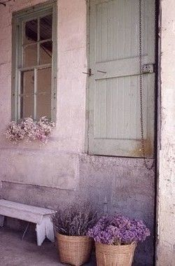 .: Doors, Shades Of Purple, Pink House, Soft Colors, Shabby Chic, Beautiful, Windows, Dry Flower, Purple Flower