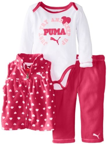 Amazon.com: PUMA Baby-Girls Newborn 3 Pack Vest New Born Pant Set