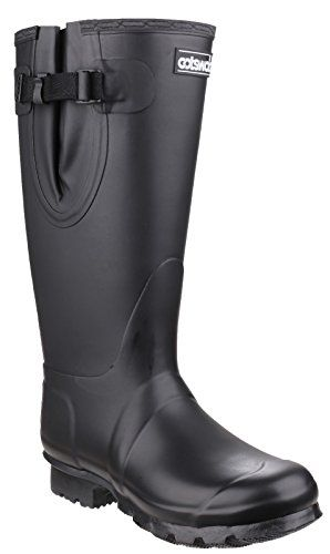 Cotswold Cotswold Mens Kew Neoprene Buckle Welly Wellington Boot Black Black Rubber UK Size 15 EU 50 >>> Read more  at the image link.