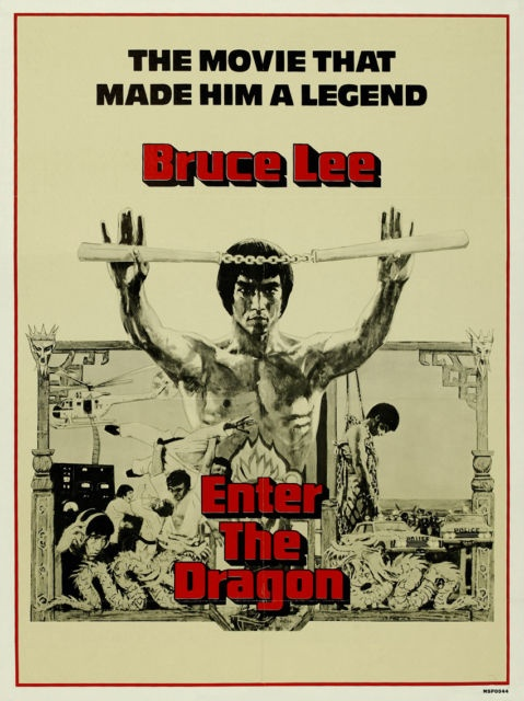 Bruce Lee Enter the Dragon Vintage Movie Film Poster Art Print (MSP 44) | eBay