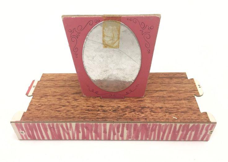 Vtg 1962 Barbie Dream House Replacement Cardboard Vanity w Mirror  | eBay