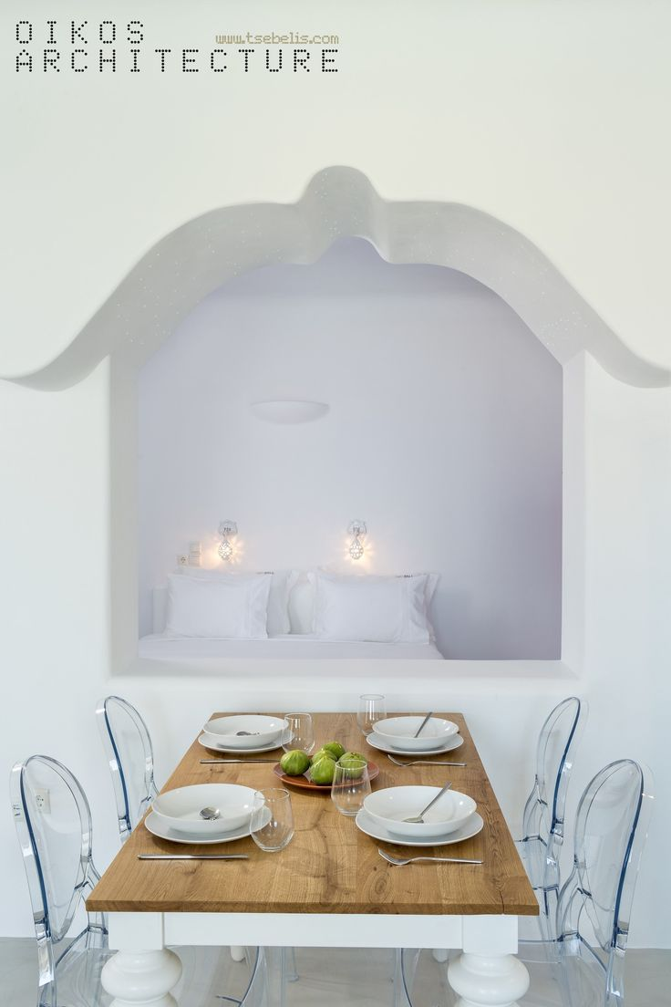 skyfall suites, pyrgos, santorini, private suite, pure white, stunning dinning table, fresh design, island