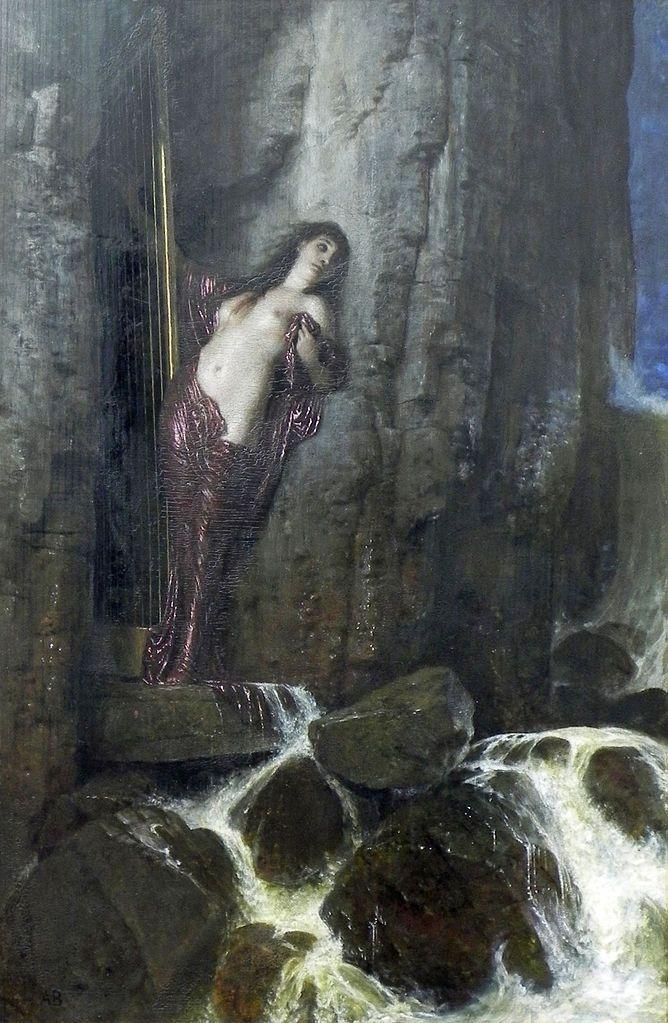 Arnold Bocklin, The Surf 1883 Oil on panel, 121 x 82 cm Nationalgalerie, Berlin