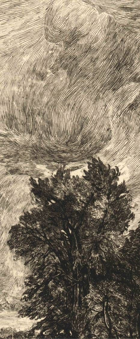 John Park [1851–1919] - The Cornfields after John Constable (detail), 1885. Etching on wove paper
