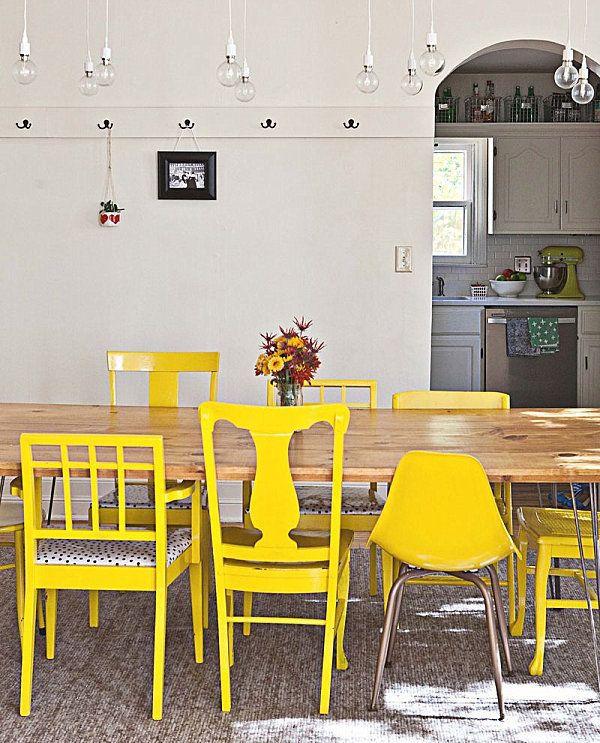 Las 25 mejores ideas sobre oficina de color amarillo en for Sillas cocina amarillas