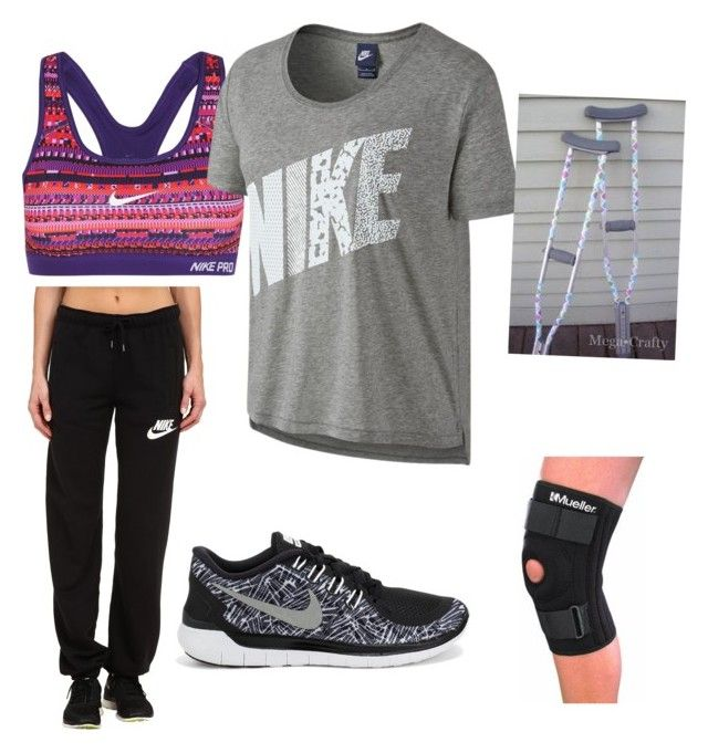 """""""Day after knee surgery"""" by kylee-brooke-adair on Polyvore featuring NIKE"""