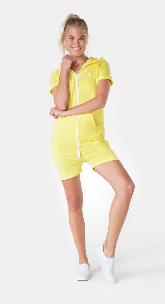 6747f62c4b Fitted Short Jumpsuit Soft Yellow
