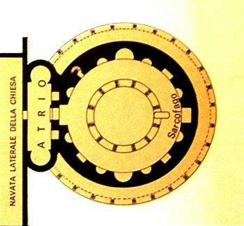 Róma: Constantina mauzóleuma(Santa Costanza); épült I. Constantinus alatt (alaprajz)