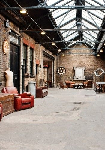 THE INNER CITY WAREHOUSE This East London warehouse - most recently a motor mechanics - comes minus a wedding licence, but its sheer space and Aladdin's Cave quality of vintage props provide the backdrop for a highly unusual blessing/reception. Couples can select from different floors (with parquet, mezzanine and oak boards), with the industrial charm of skylight roofing, textured walls and random leftover furniture from film and photo shoots bound to delight.  MC Motors, Dalston