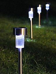 8 White LED Stainless Steel Solar Power Light Out... – USD $ 49.99