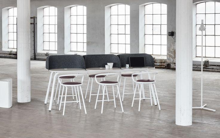 Lotus waste basket, design: Nathalie Adenling | My Place table, design: KnudsenBergHindenes | Kaloo bar stool, design: Karim Rashid | Gobble coat stand, design: Thomas Bernstrand | Styling: Katrin Bååth | Photo: Sara Landstedt