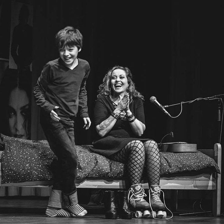 In this pic you see my boy Finn helping me out on stage. It doesn't get more personal and wonderful than this.
