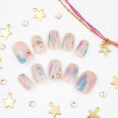 ネイル #nail #summer #shell #pink #white #marble