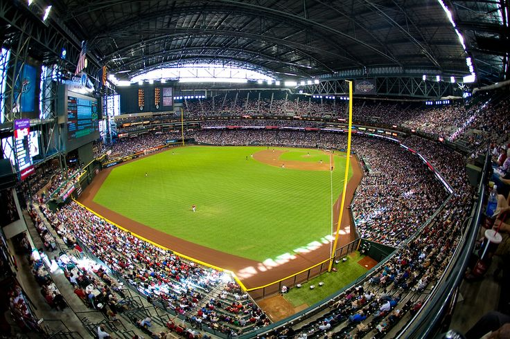 Chase Field with the top closed: League Baseball, Baseball Stadium, Baseball Launch