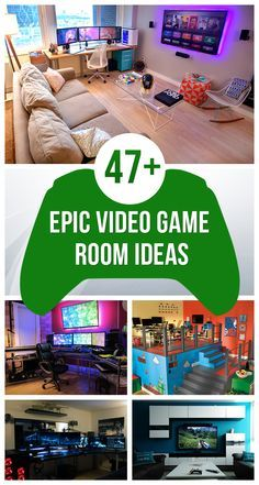 47+ Epic Video Game Room Decoration Ideas for 2016
