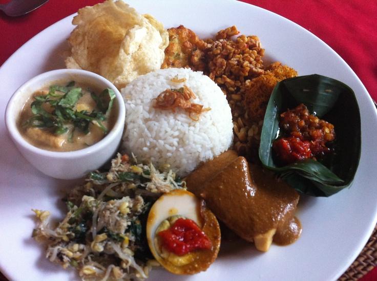 Nasi Campur a favourite Balinese dish #Bali #food