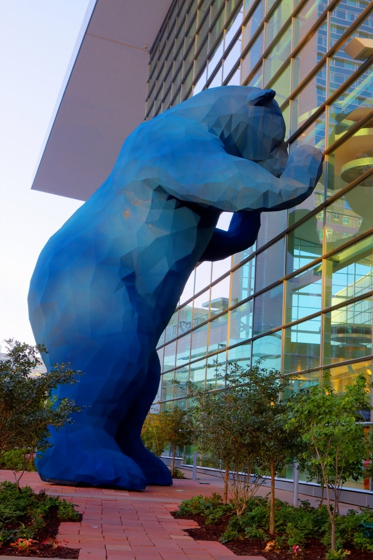 denver blue bear at the downtown denver colorado
