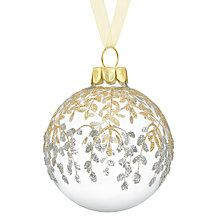 Buy John Lewis Enchantment Glass Bauble, Silver and Gold Online at johnlewis.com