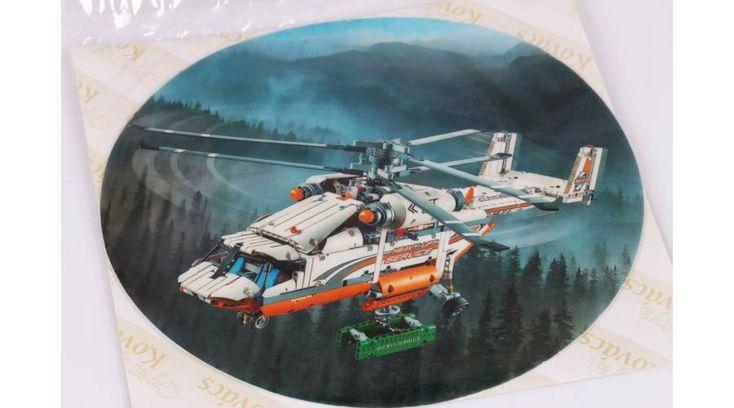 Helikopter a hegyek között tortaostya - Süss Velem.com