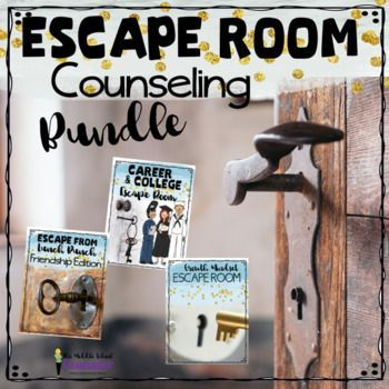 This Escape Room Counseling Bundle is the perfect combination of challenges and includes 3 Escape Rooms on Friendship, College and Career Awareness and Growth Mindset. Escape rooms allow students to build teamwork, perseverance and leadership skills while learning about important subject matter.