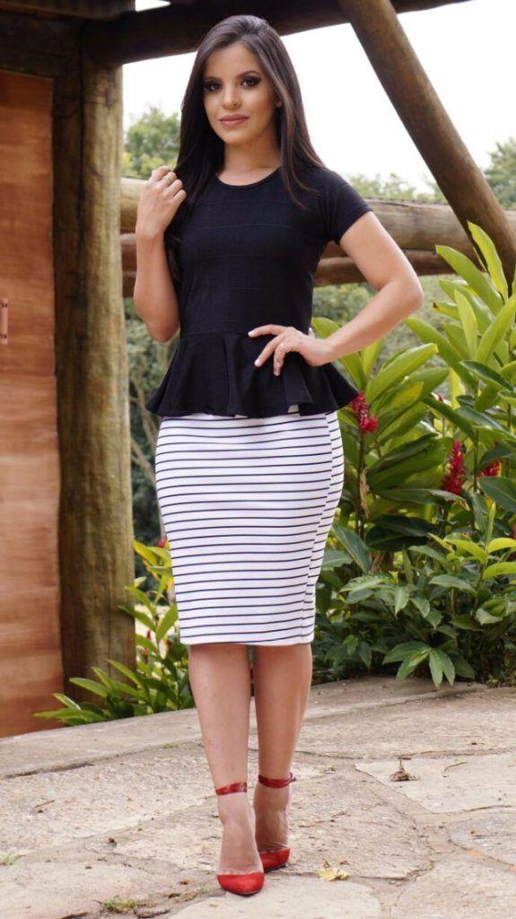 ¡20 #atuendos con #blusa peplum que te encantarán!   #Moda Mckela   Mckela