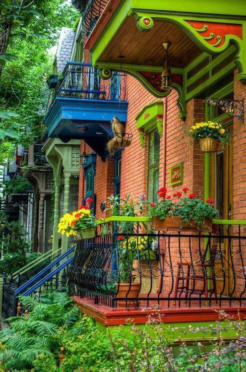 Colorful Houses - Montreal, Canada Beautiful city with great restaurants!