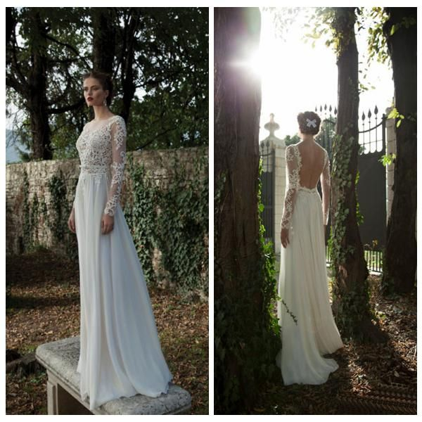 Wholesale brides dresses, cheap wedding dresses uk and colored wedding dresses on DHgate.com are fashion and cheap. The well-made  greek beach wedding dresses long illusion sleeves chiffon a-line lace appliques bridal dress backless high neck white dress for bride beteau sold by arrowma is waiting for your attention.