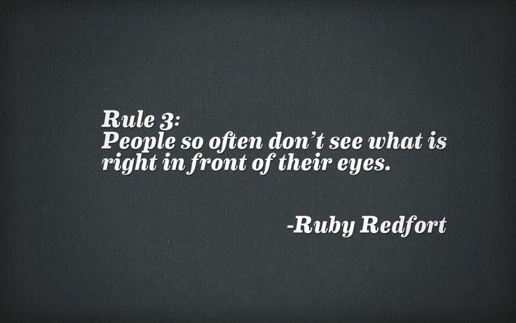 Rule 3 - Ruby Redfort