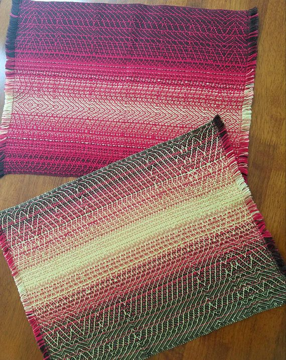 Placemats with a firey gradation   https://www.etsy.com/listing/533378593/fire-placemats-set-of-2-placemats
