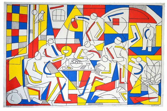 ARTE: I colori primari nei dipinti di Simon Cooper - Osso Magazine