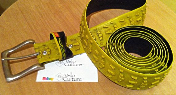 Recycled bicycle tyre belt  cyclocross Tufo Elite by VeloCulture, £20.00