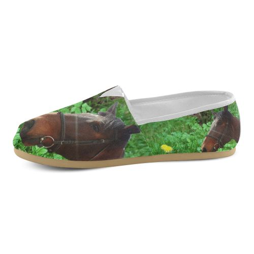 Horse and Grass Women's Casual Shoes (Model 004)