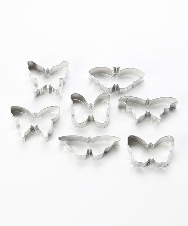 This Butterfly Cookie Cutter Set is perfect! #zulilyfinds