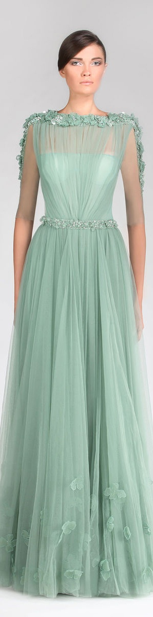 Tony Ward Couture - Summer 2013 Collection  #formal #dress <3/ Bordados em pedraria em São José dos Campos SP é na RAE - Rutileia Acessorios Exclusivos