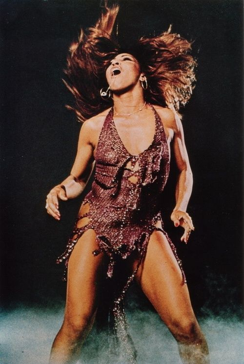 """Super Seventies - Tina Turner in action. I used to do a great imitation of her doing """"big wheels keep on turning"""""""