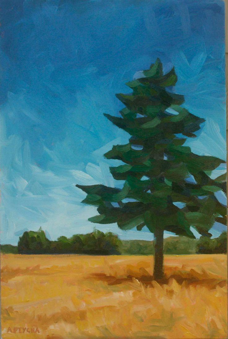 Single Tree Oil on Canvas 36 X 24